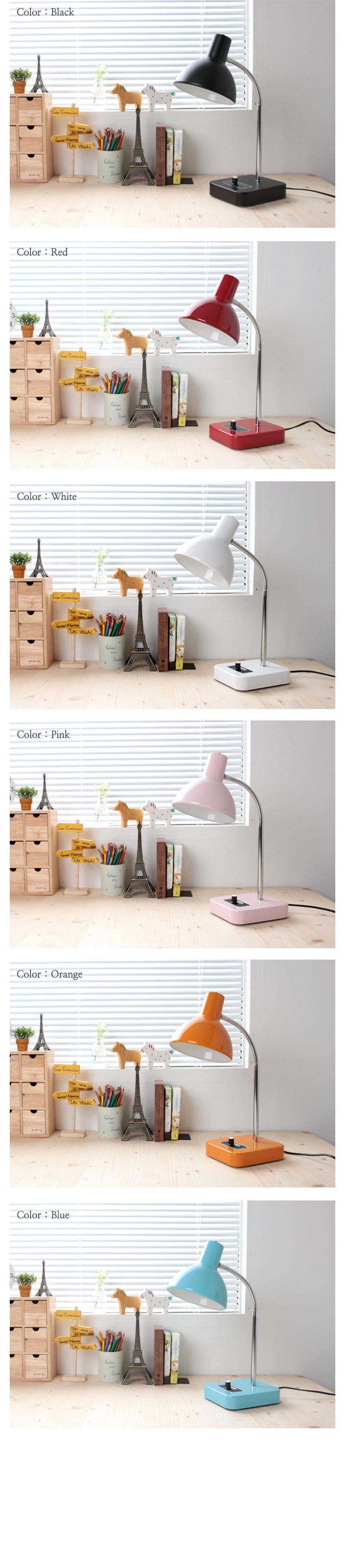 레트로 사각 스탠드(6color) - 인테홀릭, 31,840원, 리빙조명, 테이블조명